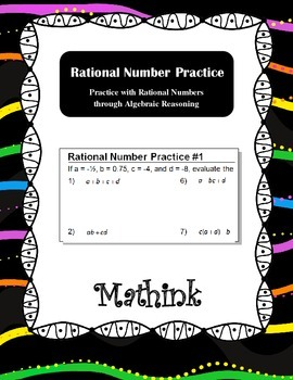 Rational Number Practice Bundle