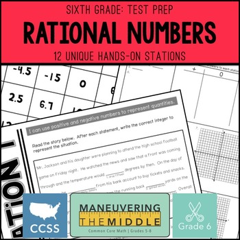 6th Grade Math Test Prep Rational Numbers