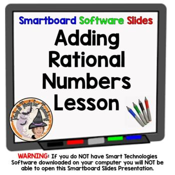 Rational Numbers Addition Adding Smartboard Lesson