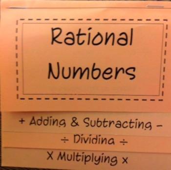 Rational Numbers FlipBook