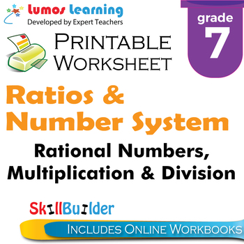 Rational Numbers, Multiplication & Division Printable Work