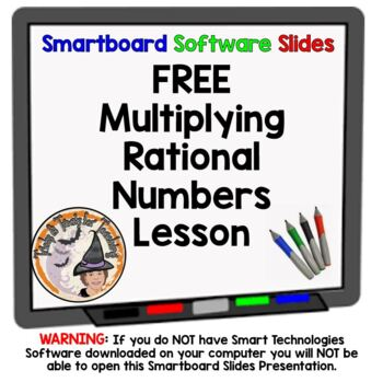 FREE Rational Numbers Multiplication Multiplying Smartboar