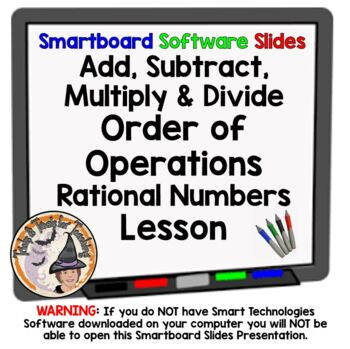 Rational Numbers Add Subtract Multiply Divide Order of Ope