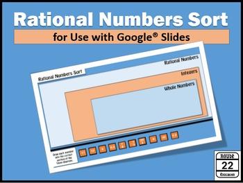 Rational Numbers Sort {Google Slides FREEBIE}
