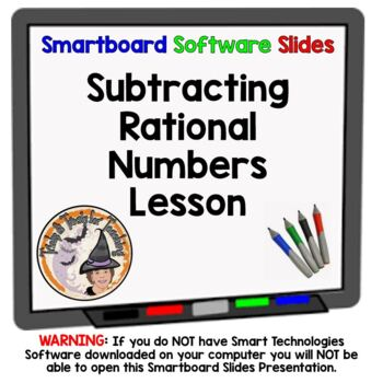 Rational Numbers Subtraction Subtracting Rational Smartboa