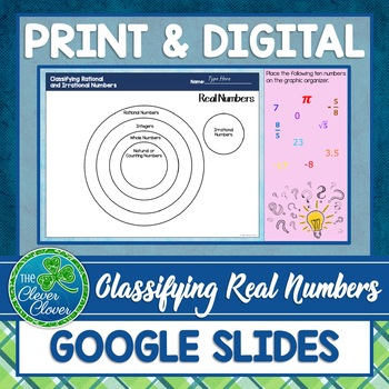 Rational and Irrational Numbers - Define and Classify