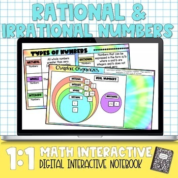 Rational and Irrational Numbers Digital Math Notebook