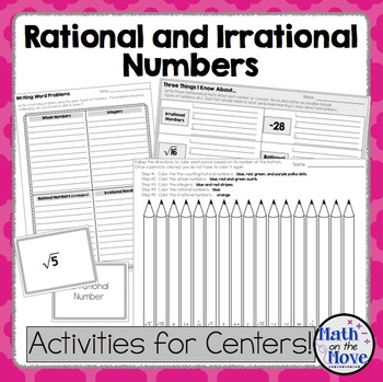 Rational and Irrational Numbers - Notes and Activities