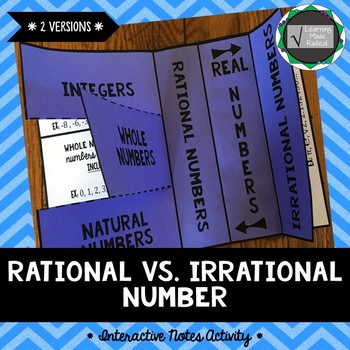 Rational vs Irrational Interactive Notes Activity