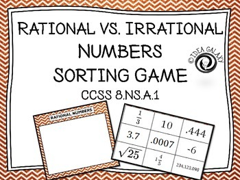 Rational vs. Irrational Numbers Sorting Activity