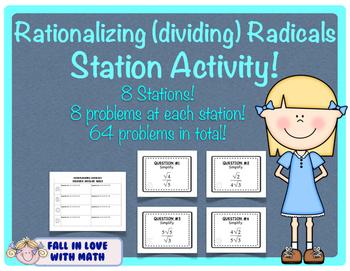 Rationalizing (Dividing) Radicals Station Activity!