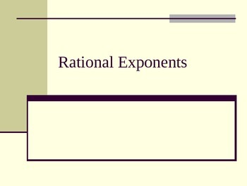 Rational Exponents Lesson