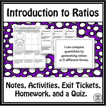 Ratios Notes and Activities