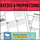 6th Grade Math Test Prep - 6.RP1, 6.RP2, 6.RP3