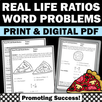 real world life ratios worksheets