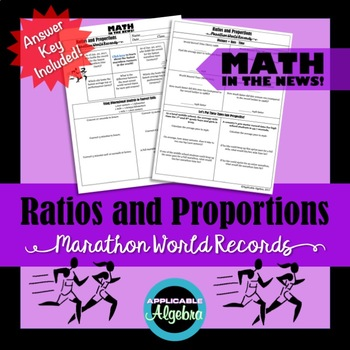 Ratios and Proportions - Marathon World Records - Math in