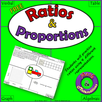 Ratios and Proportions - Verbal, Table, Graph and Algebrai