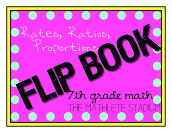 Ratios and Rates Interactive Flip Book: 7th grade math literacy