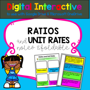 Ratios and Unit Rates Digital Interactive with Google Drive