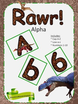 Rawr!! Alphabets Sets