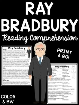Ray Bradbury biography and questions, science fiction, authors