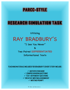 "Ray Bradbury's ""I See You Never"" Unit Plan and PARCC Style"