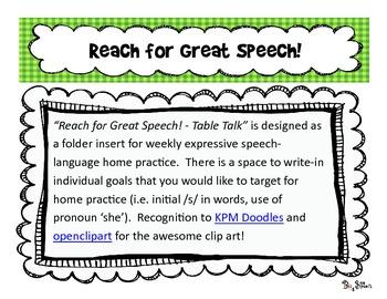 Reach For Great Speech - Table Talk