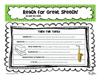 Reach for Great Speech - Table Talk (Nov 2013)