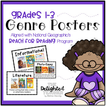 National Geographic {Reach for Reading} Genre Posters Set