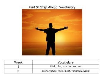 Reach for Reading Kindergarten Unit 9 Vocabulary Cards