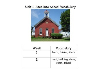 Reach for Reading Kindergarten Yearlong Vocabulary Bundle