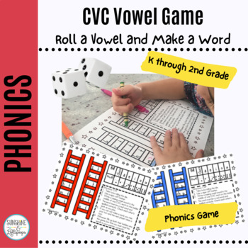 CVC Phonics Word Work Game: Reach for the Vowels Do You Kn
