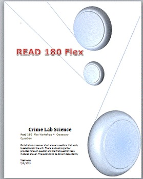 Read 180  rBook flex Workshop 4  Crime Lab Science Crossov
