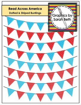 Read Across Amercia - Dotted & Striped Buntings - Clipart