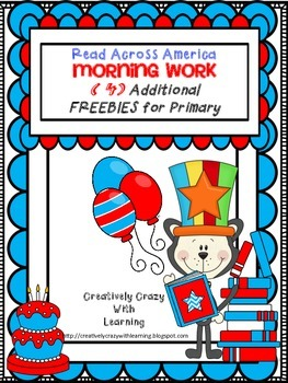 Reading Week: 4 Additional Morning Work FREEBIES for Prima