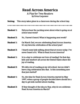 Read Across America - A Play for Two Readers