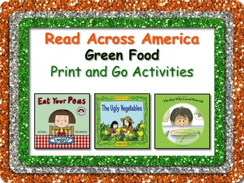 Green Food Literacy and Math Fun Pack + BONUS Bookmarks Re