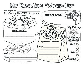 "Christmas / Holiday ""My Reading Wrap-up"" Book Report / Rea"