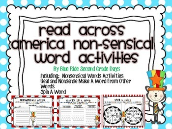 Read Across America Non-Sensical Word Activities For Real