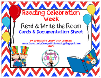 Reading Celebration Week Read and Write the Room Cards