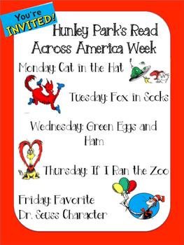 Read Across America Week Invitation