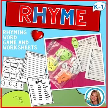 Dr. Seuss Week Inspired Kindergarten and First Grade Rhymi