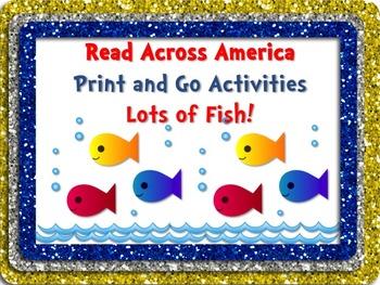 FISH Literacy and Math Activity Fun Pack + BONUS Bookmarks!