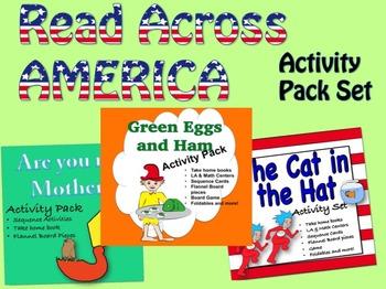Read Across American Activity Pack:  LA & math Activities