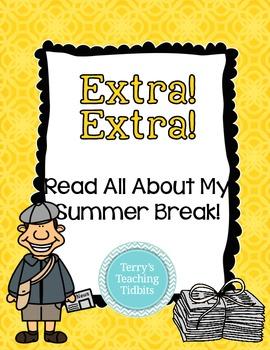 Read All About My Summer Break  **First Week of School Wri