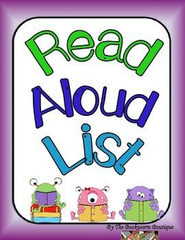 Read Aloud Book List