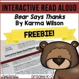 Read Aloud Freebie: Bear Says Thanks Interactive Read Alou