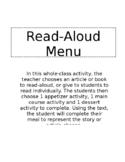 Read-Aloud Menu