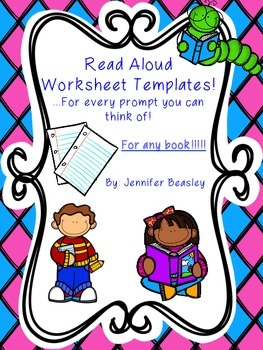 Read Aloud Worksheet Templates With Prompts