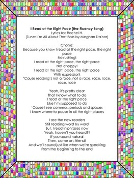 Fluency Song - Read At The Right Pace (tune of All About T
